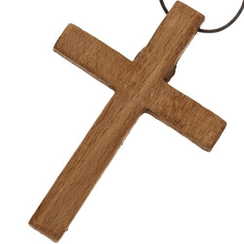 Crucifix pectoral bois monastère de Bethléem 5