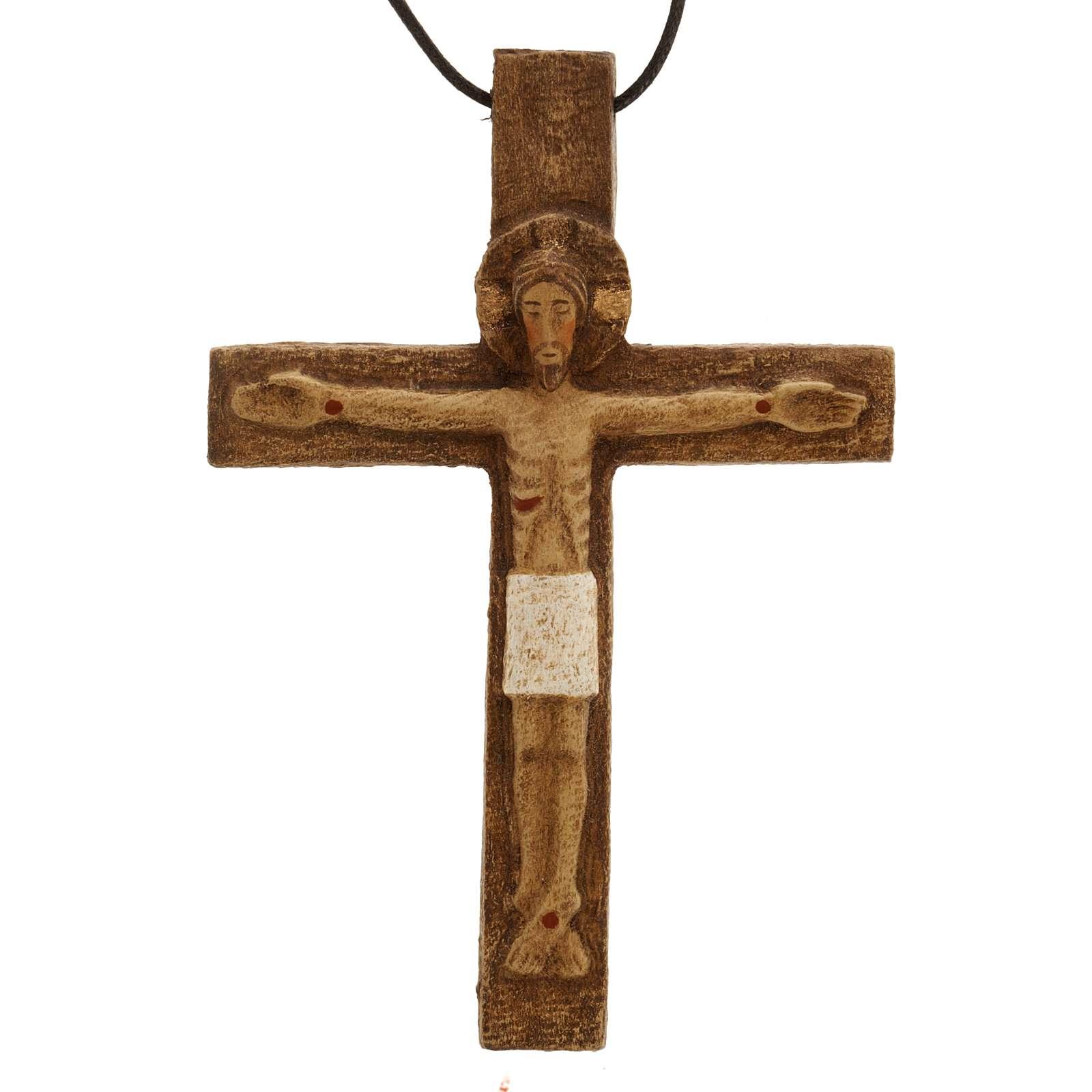 Crocifisso pettorale legno Monastero Bethléem 4