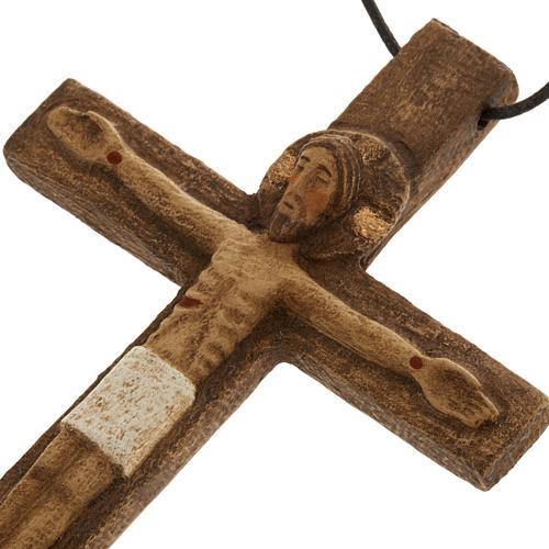 Crocifisso pettorale legno Monastero Bethléem 3