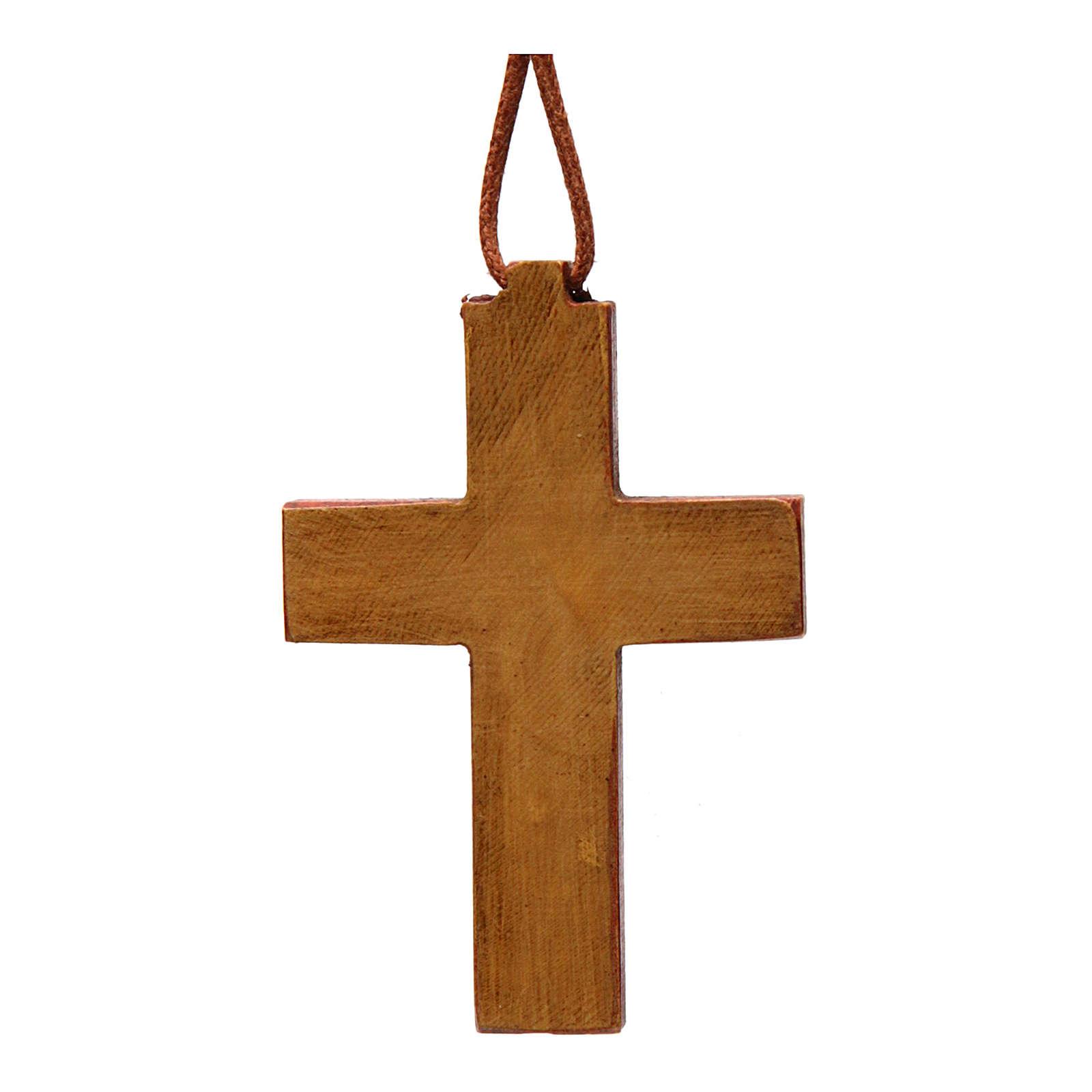 Anhänger Kreuz aus Holz Bethleem 4