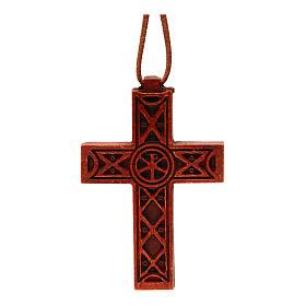 Croix pendentif classique bois Bethléem s1