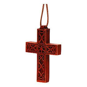 Croix pendentif classique bois Bethléem s2