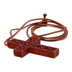 Croix pendentif classique bois Bethléem s4