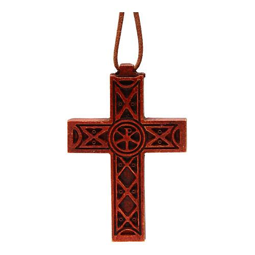 Croix pendentif classique bois Bethléem 1