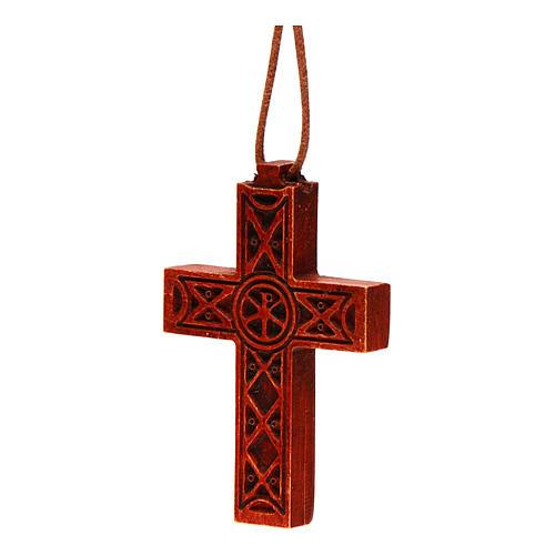 Croix pendentif classique bois Bethléem 2