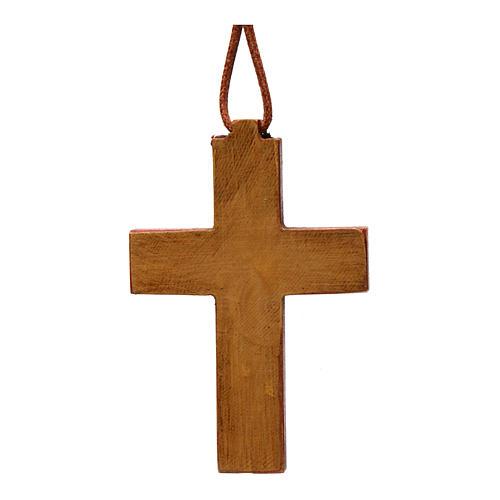 Croix pendentif classique bois Bethléem 3