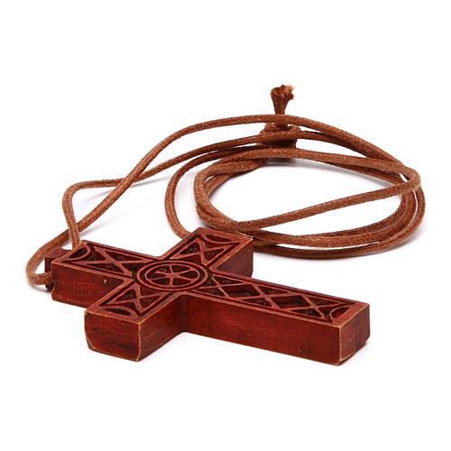 Croix pendentif classique bois Bethléem 4
