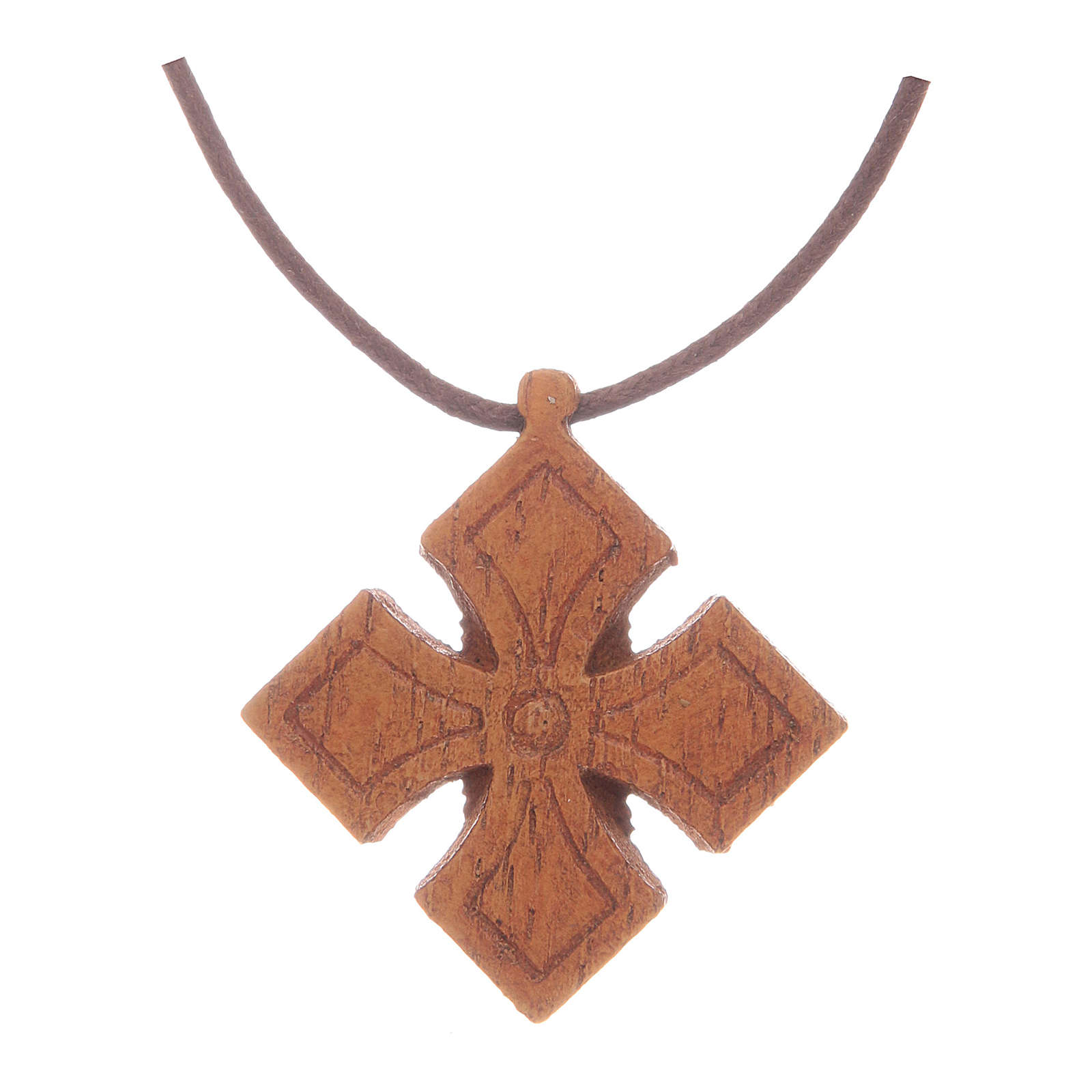 Kreuz Anhängher aus Holz Bethleem 4