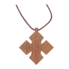 Kreuz Anhängher aus Holz Bethleem s3