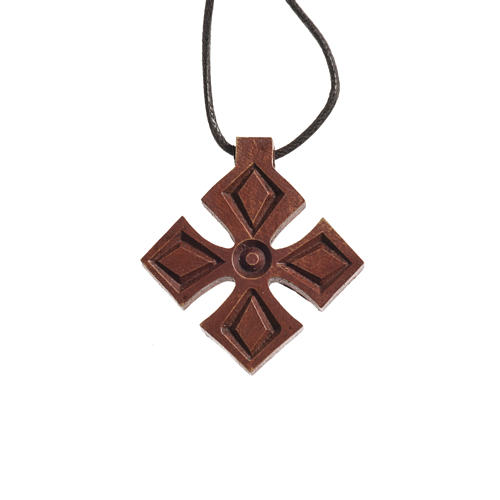 Kreuz Anhängher aus Holz Bethleem 1