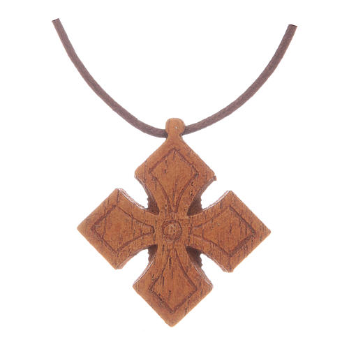 Kreuz Anhängher aus Holz Bethleem 2