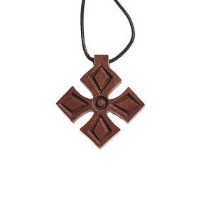 Croce legno scuro Bethléem s1