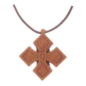 Croce legno scuro Bethléem s2