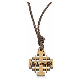 Anhänger Jerusalem Kreuz Olivenholz s1