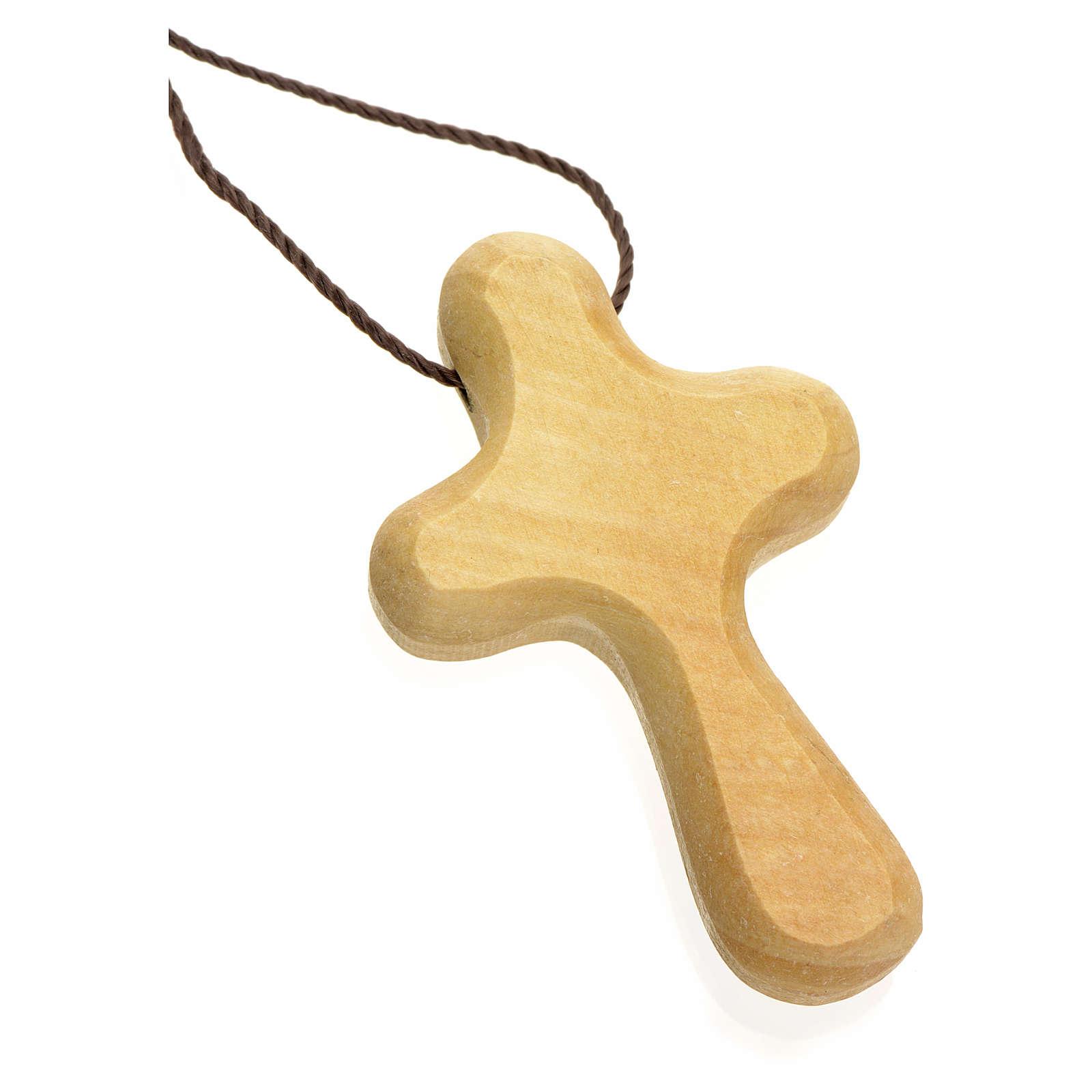 Croix de vie stylisée bois d'olivier Terre Sainte 4
