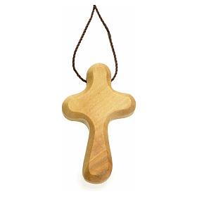 Croix de vie stylisée bois d'olivier Terre Sainte s1