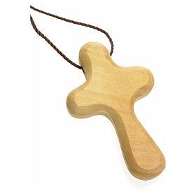 Croix de vie stylisée bois d'olivier Terre Sainte s2