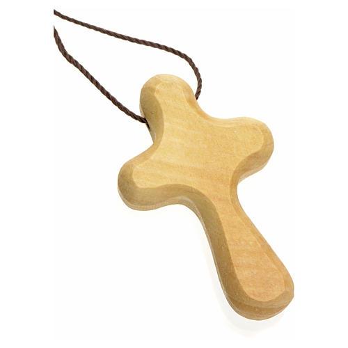 Croix de vie stylisée bois d'olivier Terre Sainte 2