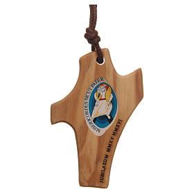 STOCK Colgante olivo cuerda logo Jubileo Misericordia 4,5x3 cm s2