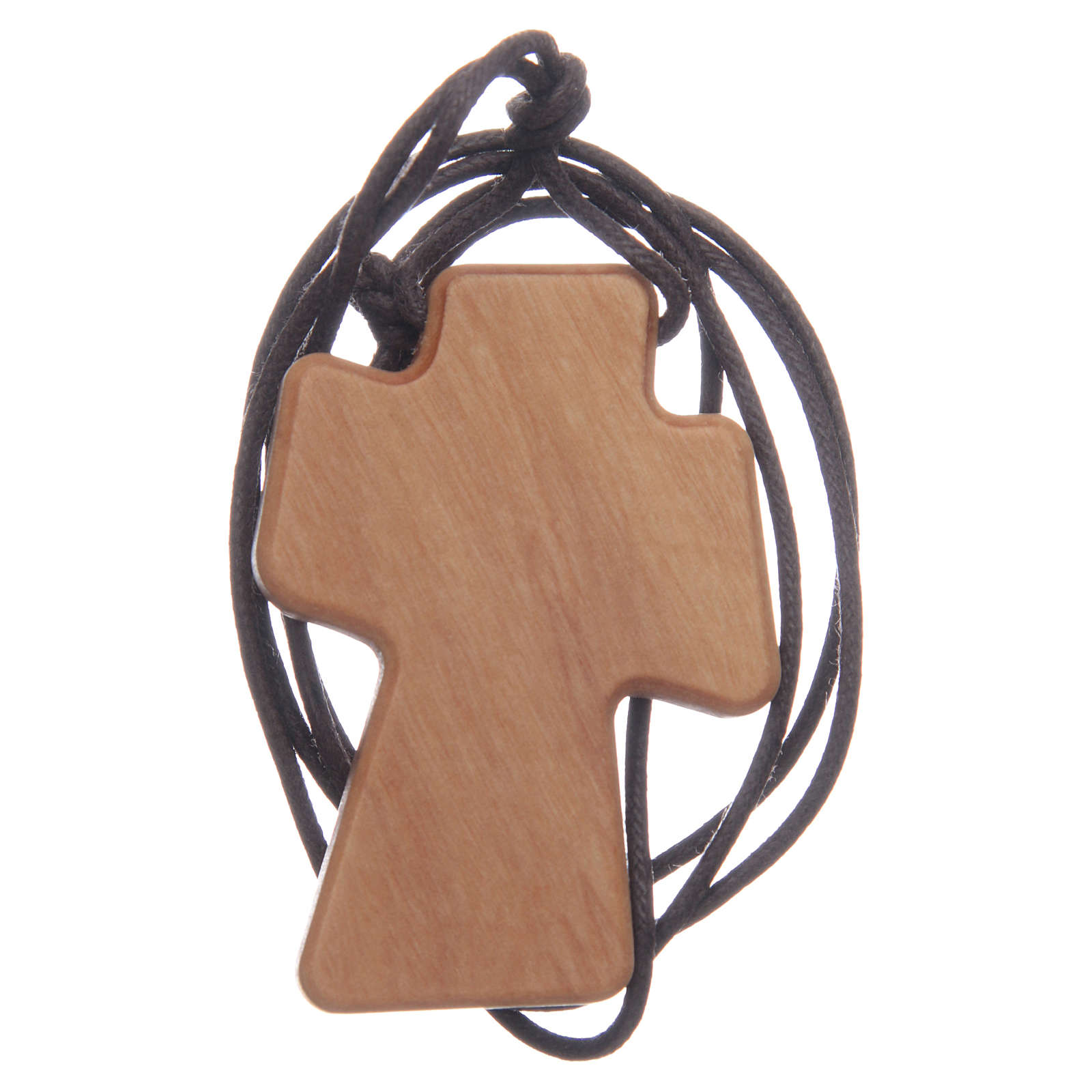 Cruz madera olivo relieve 5 cm 4