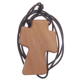 Cruz madera olivo relieve 5 cm s2