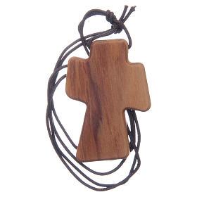 Cruz madera olivo Espíritu Santo relieve 5 cm s2