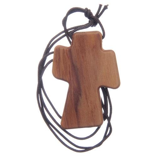 Krzyżyk drewno oliwne Duch Święty relief 5 cm 2