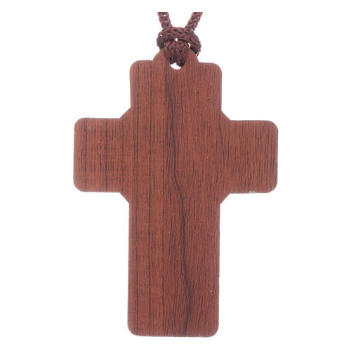 Croix Fatima en bois sur corde avec livret 2