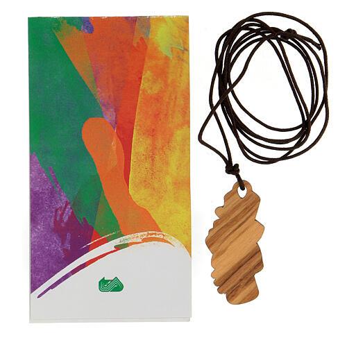 Colgante cruz de la amistad madera 4,5 cm 3
