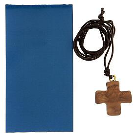 Croce ulivo con Madonna e Bambino 3 cm s3