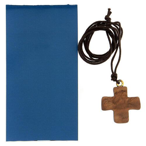 Croce ulivo con Madonna e Bambino 3 cm 3