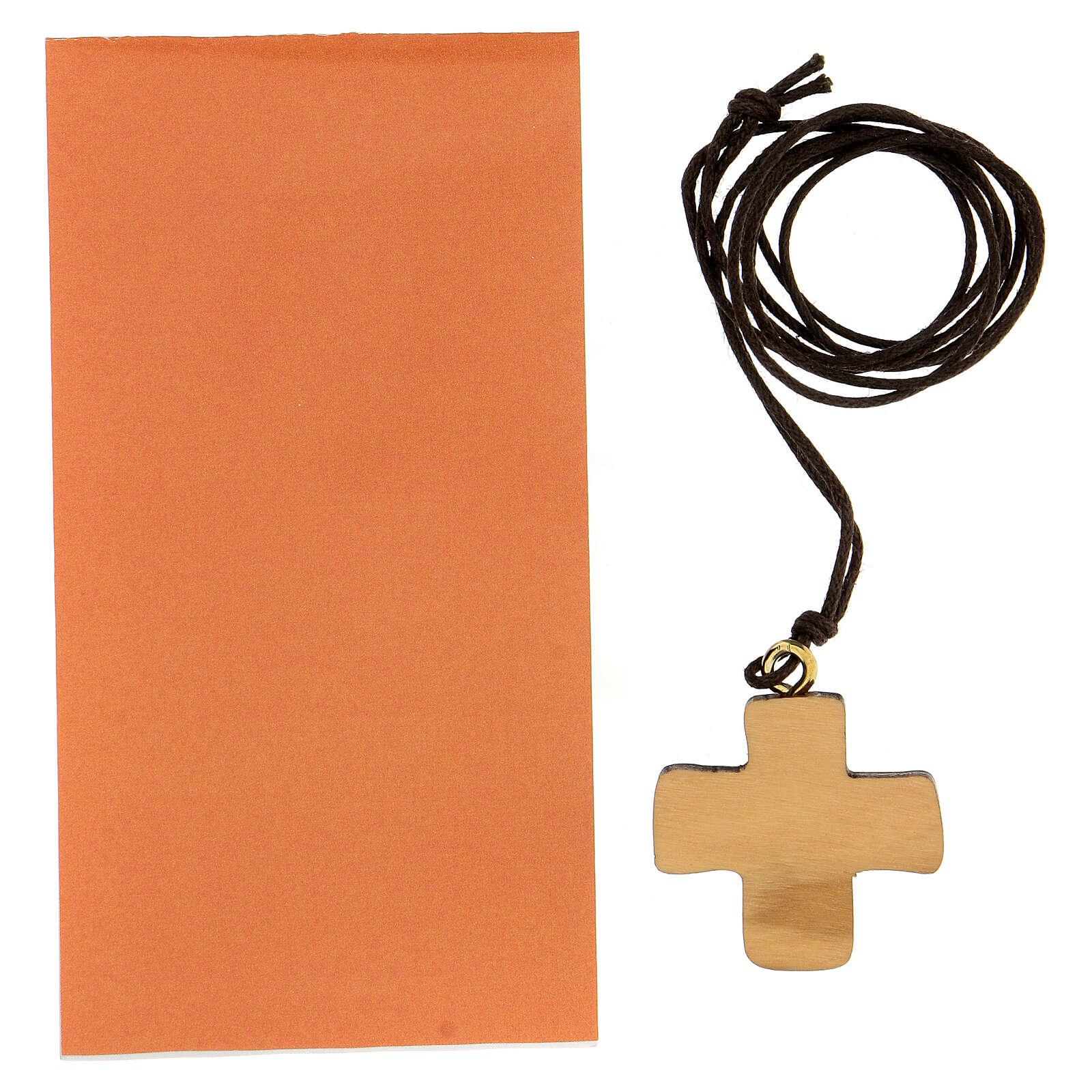 Croix imprimée symbole Confirmation en olivier 3 cm 4
