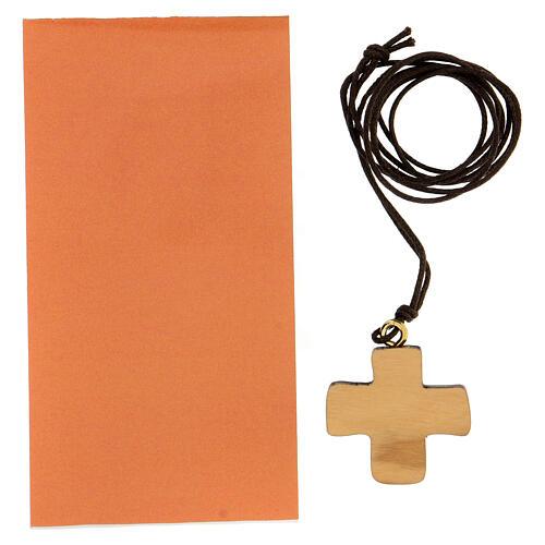 Croix imprimée symbole Confirmation en olivier 3 cm 3