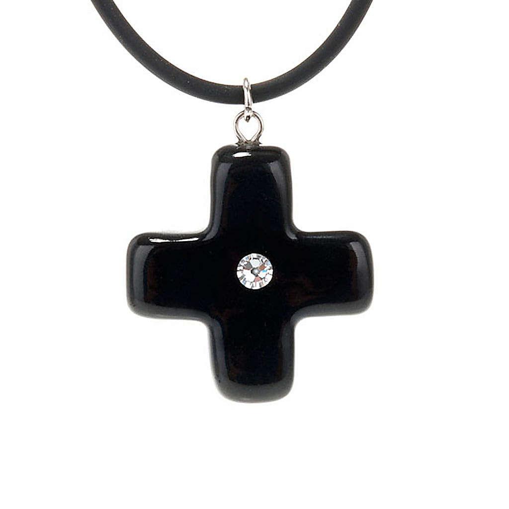 Croce nera con Swarovski 4