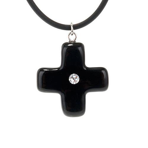 Croce nera con Swarovski 1