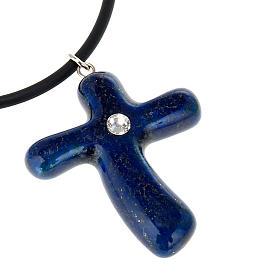 Blue cross with Swarovski s2