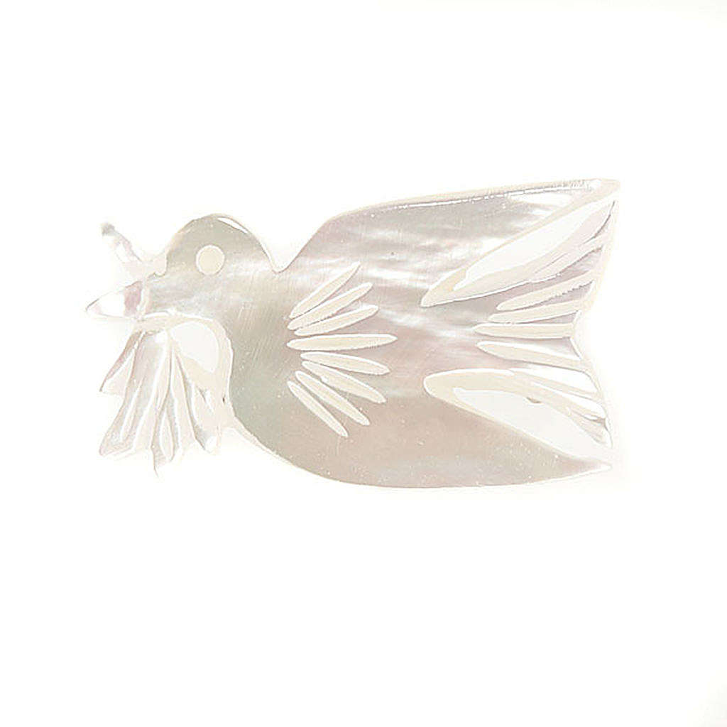 Mother of pearl brooch with dove 4