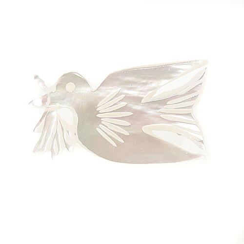 Mother of pearl brooch with dove 1