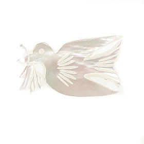 Broche madreperla paloma con rama s1
