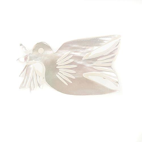 Spilla madreperla colomba con rametto 1