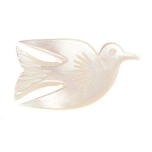 Brosche Mutterperl Taube 1