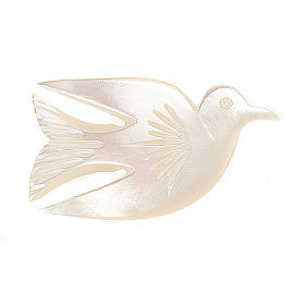 Mother of pearl pin with dove s1