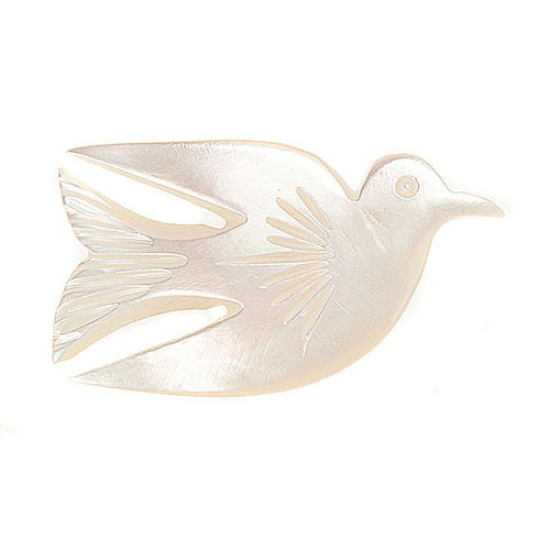 Mother of pearl pin with dove 1