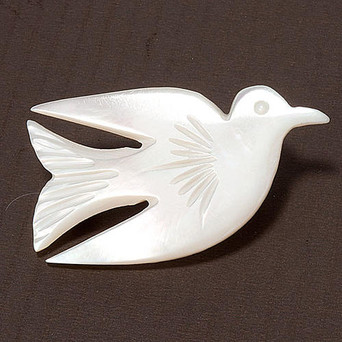 Mother of pearl pin with dove 3