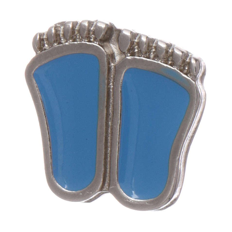 Spilla piedini di bimbo smaltata azzurro 4