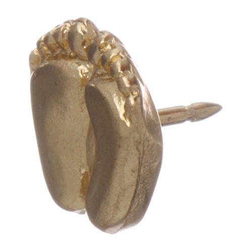 Broche pies de niño esmaltado oro 4