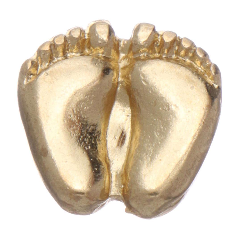 Spilla piedini di bimbo smaltata oro 4