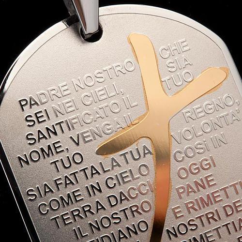 Ciondolo preghiera piastrina 3