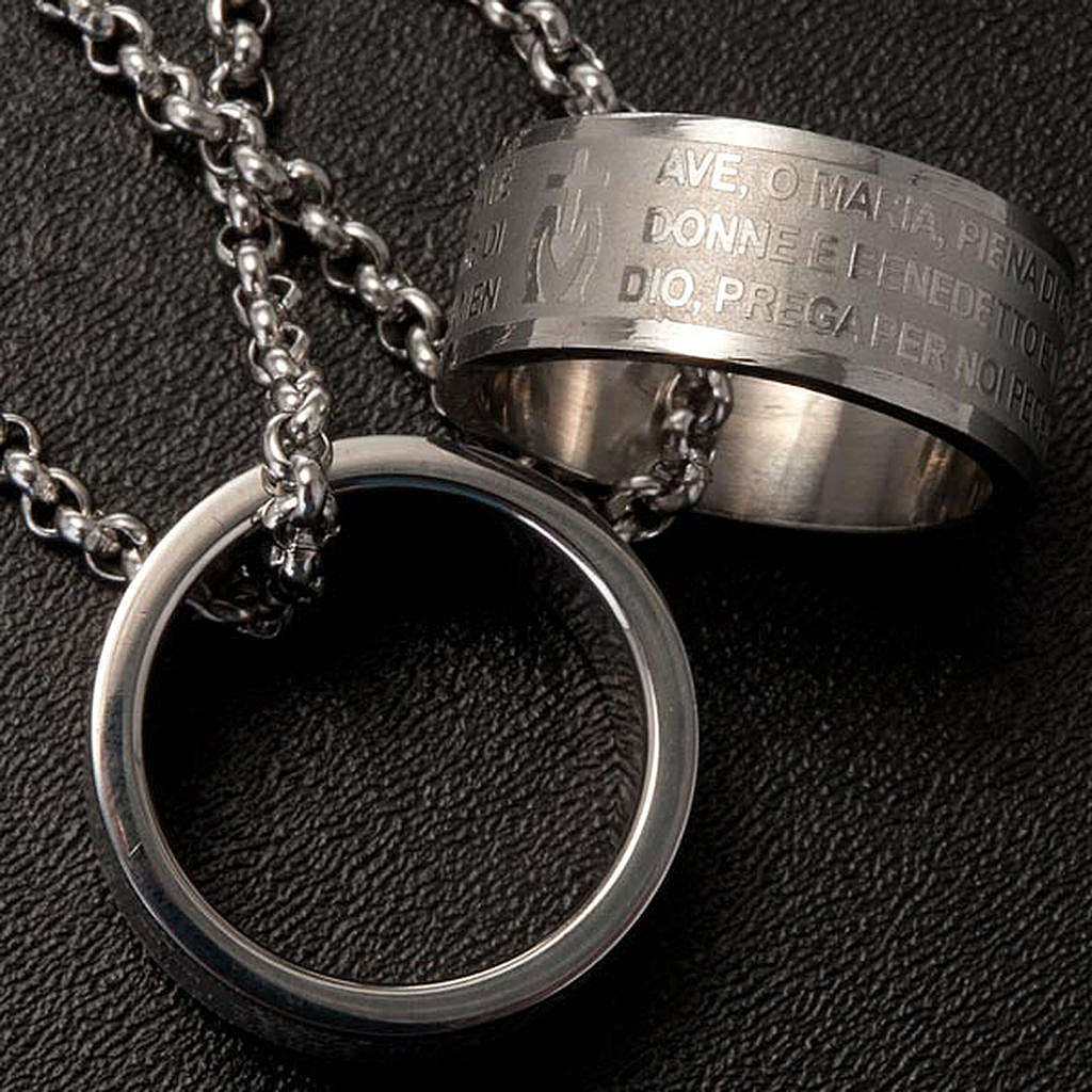 Ciondolo anello preghiera 4