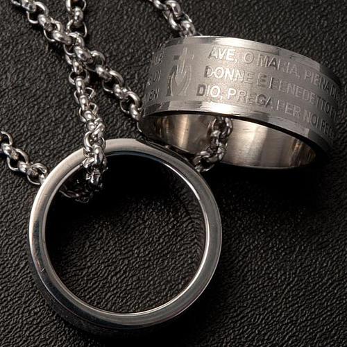 Ciondolo anello preghiera 2